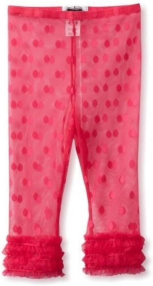 Amazon Com Mud Pie Baby Girl Lace Capri Leggings 9 12 Months 361009 Hot Pink Clothing