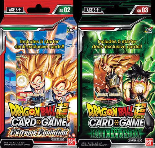 Trading Dragon Z Ball Cards Dragon (Dragon Ball Super Cross Worlds Starter Decks: Extreme Evolution and Dark Invasion)