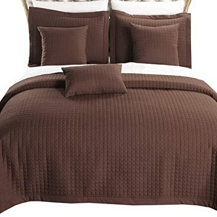 Amazon Com Quilt Coverlet And Shams Set 6 Piece With Decorative