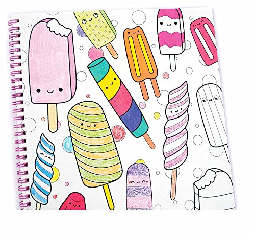 OOLY, Coloring Book, Happy Snacks, 32 Pages, 9'' x 12'' (118-157)
