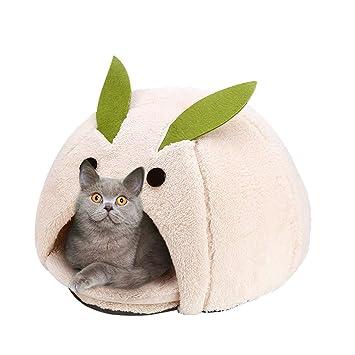 Casa y Sofá para Mascotas, Nido Cueva Cama Gato Puppy Conejo Mascota Antideslizante Plegable Suave Calentar: Amazon.es: Productos para mascotas