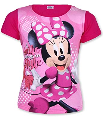 8773b578446 Disney Girls Minnie Mouse Tshirt Top Age 3-8 Years: Amazon.co.uk: Clothing