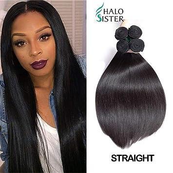 3 Bundles Deal Straight Brazilian Hair 8A Unprocessed Virgin Human Weave  Hair Natural Black 18 20 5633076cd8