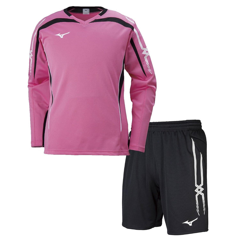 ミズノ(MIZUNO) キーパーシャツ&キーパーパンツ 上下セット(ピンク/ブラック) P2MA8070-65-P2MB8070-09 B079Z23YWXピンク/ブラック XX-Large