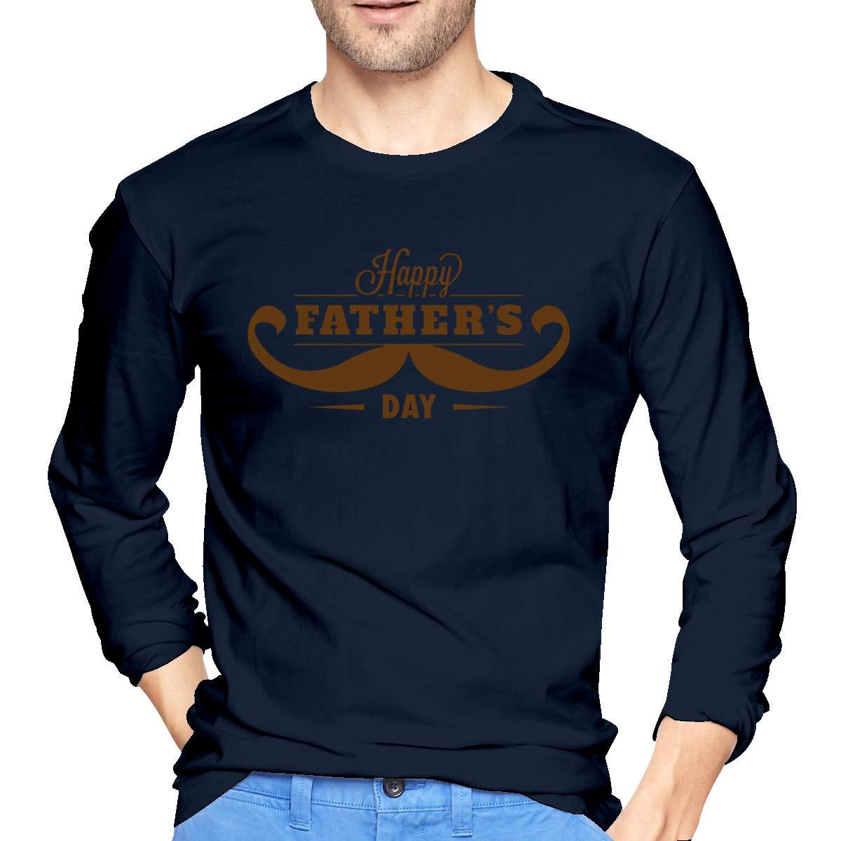 LONGTENG Design Happy Fathers Day Design1 Fashion T Shirt O-Neck 100/% Soft Cotton for Man Black