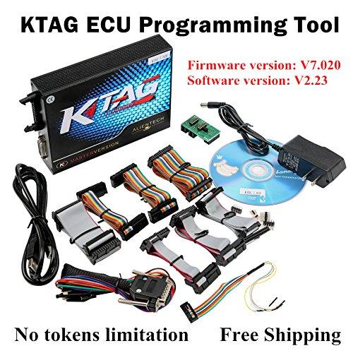 2017 V2.23 KTAG ECU Programming Tool Firmware V7.020 KTAG Master Version K-TAG ktag Chip Tuning tool Unlimited Token