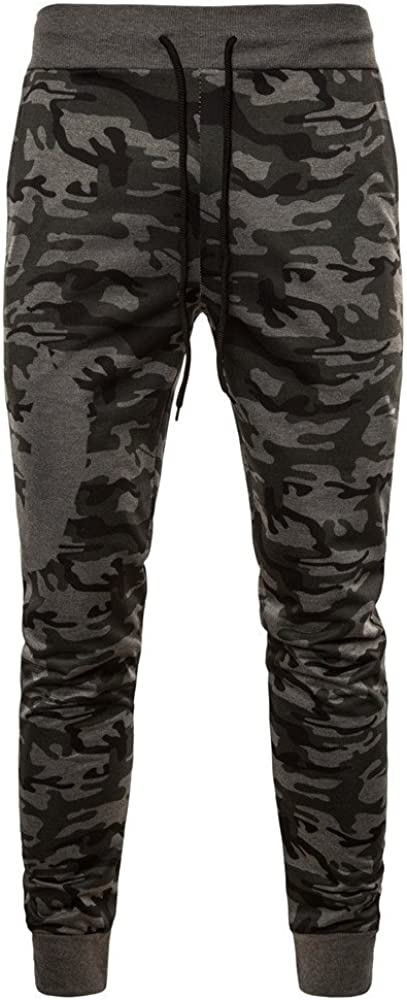 Geetobby Men Camouflage Feet Pants Workout Sport Trousers Sweatpant Breathable