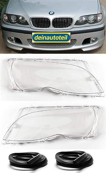 Streuscheiben Set Scheinwerferglas Rechts Links 3er E46 Limo Touring Ab Bj 01 Facelift Mit Gummidichtung Auto