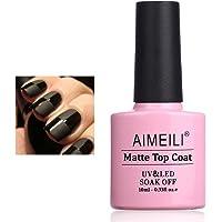 AIMEILI No Wipe Matte Top Coat Gel Nail Polish Soak Off UV LED Nail Gel Polish Varnish Manicure 10ml