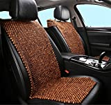 DIELIAN Rosewood Car Van Seat Cover Natural Wood Comfort Massage Cool Car Seat Cushion,Beige