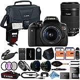 Canon EOS Rebel T6i 18MP Digital SLR Camera Retail Packaging 24 Piece Bundle (18-55 & 55-250 Premium Bundle)