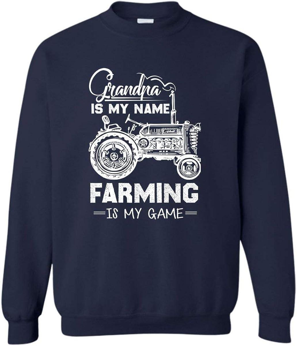 BigCrab Grandpa is My Name Farming Unisex Sweatshirts Long Sleeve Tshirt