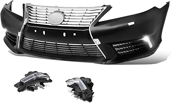 Matt Black With Chrome Trim Front Left Bumper Grille with Space for Fog Light