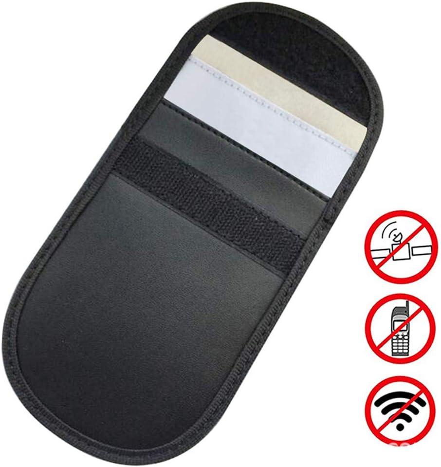 Amaoma RFID Bloqueo Señal Sistemas,Bolsa de Bloqueo de Señal Funda para Teléfono Móvil Protección de la Privacidad y Llave de Coche Fob Bolsa Bloqueo Señal Sistemas Dispositivo Antirrobo (Negro)