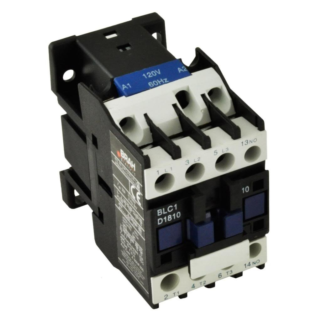 Direct Replacement for TELEMECANIQUE LC1-D18 AC Contactor LC1D18 LC1D1810-G6 120V Coil 3 Phase 3 Pole 18 Amp