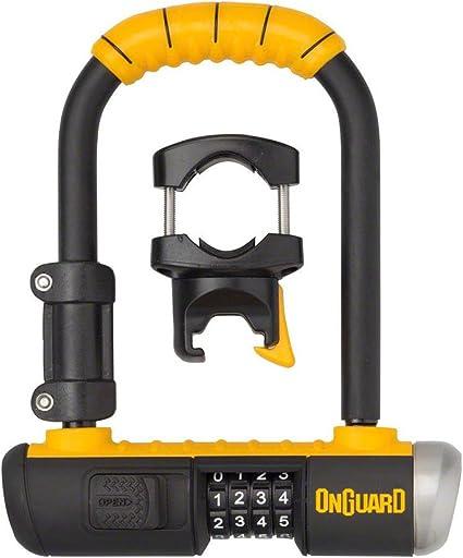 """OnGuard Bulldog Combo U-Lock Black//Yellow 4.5 x 9/"""""""