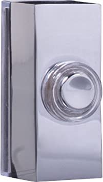 Byron Wired Bell Push Surface Mounted   Chrome