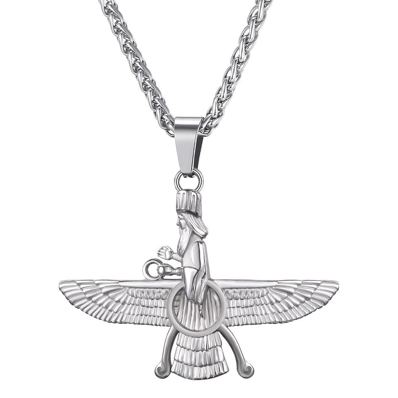 U7 farvahar pendant chain zoroastrian jewelry ahura mazda symbol product details buycottarizona Choice Image