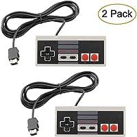 AGPtek® Mandos NES Mini Classic, 2 unidades, Controladores para NES con cable extendido de 1,8 m para la Nintendo NES Mini Classic, Mando y controlador con cable de 1,8 m.