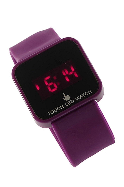 Reloj de mujer - SODIAL(R)Colorido unisexo LED Digital pantalla tactil Reloj de pulsera de silicona Purpura: Amazon.es: Relojes