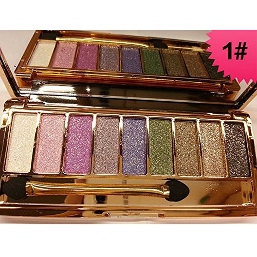 [Fashion 9 Colors Eyeshadow Palette Women Diamond Bright Shining Colorful Makeup Eye Shadow Flash Glitter Make Up Set With] (Princess Anastasia Halloween Costume)