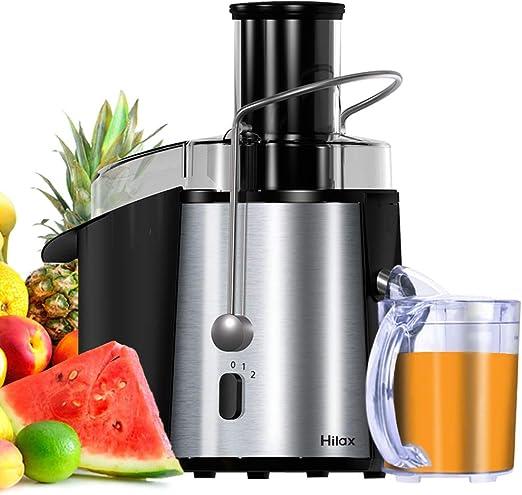 Hilax Extractor de zumo para máquina de exprimir, 2 velocidades ...