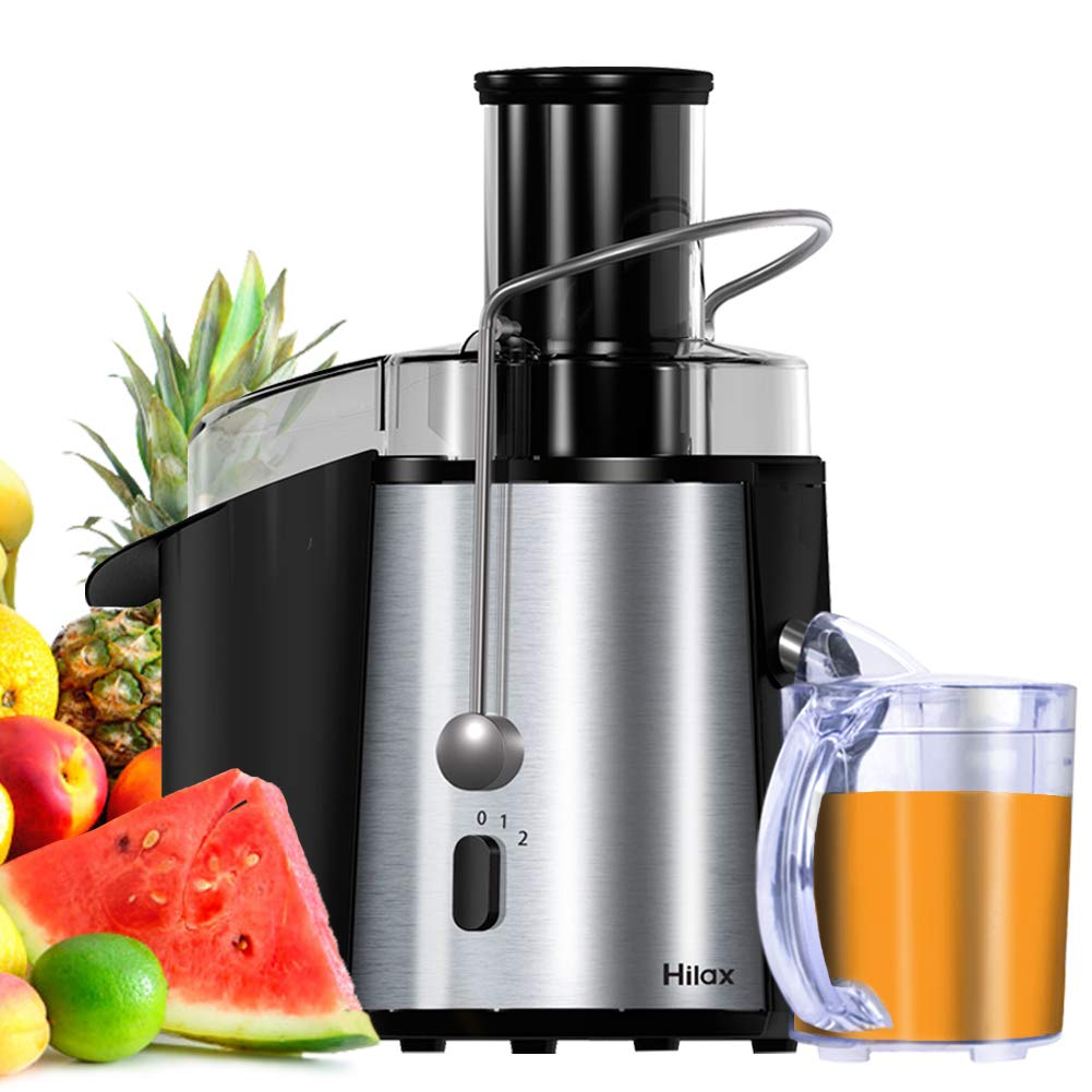 Centrifugal Juicer Machine 850W 3'' Wide Mouth Hilax Juice Extractor 2-SPEED Easy to Clean Stainless Steel Juicer for Fruits and Vegetable
