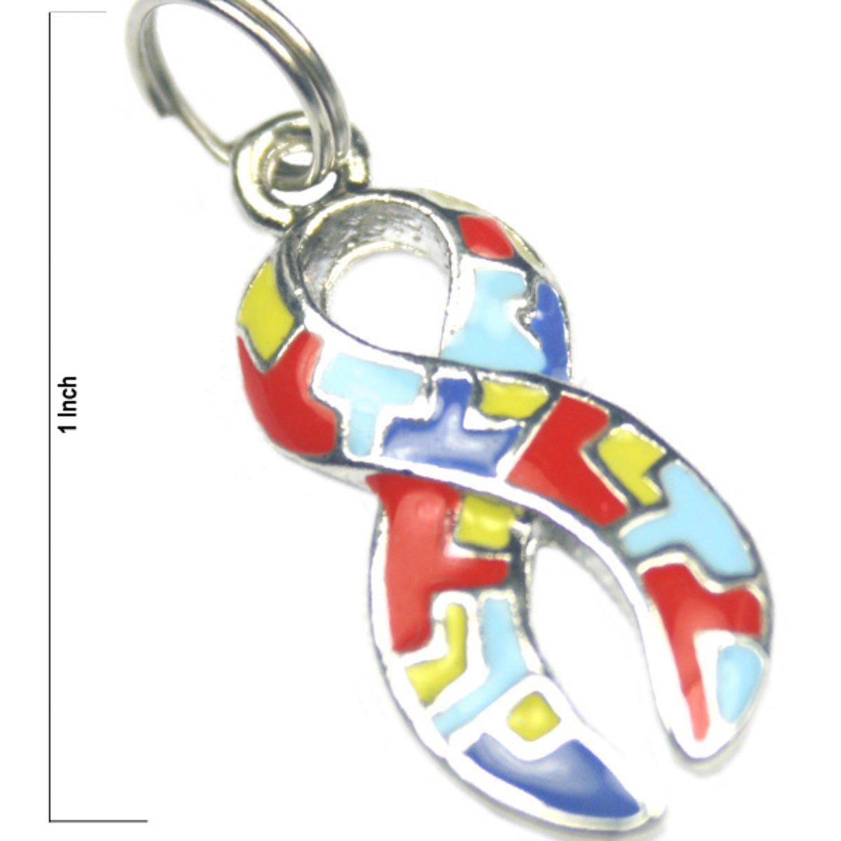 Autism Ribbon Mini Charm 25 Pack