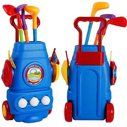 Juego de club de golf para niños - Carro de golf con ruedas ...