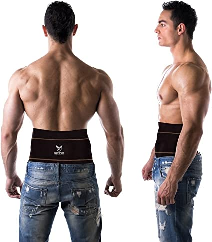Copper Plus Gear Premium Fit Back Brace Lower Lumbar Support Belt Adjustable for Men and Women Comfortable Copper Infused Back Wrap Perfect for Working or Playing Sports Waist 39-50