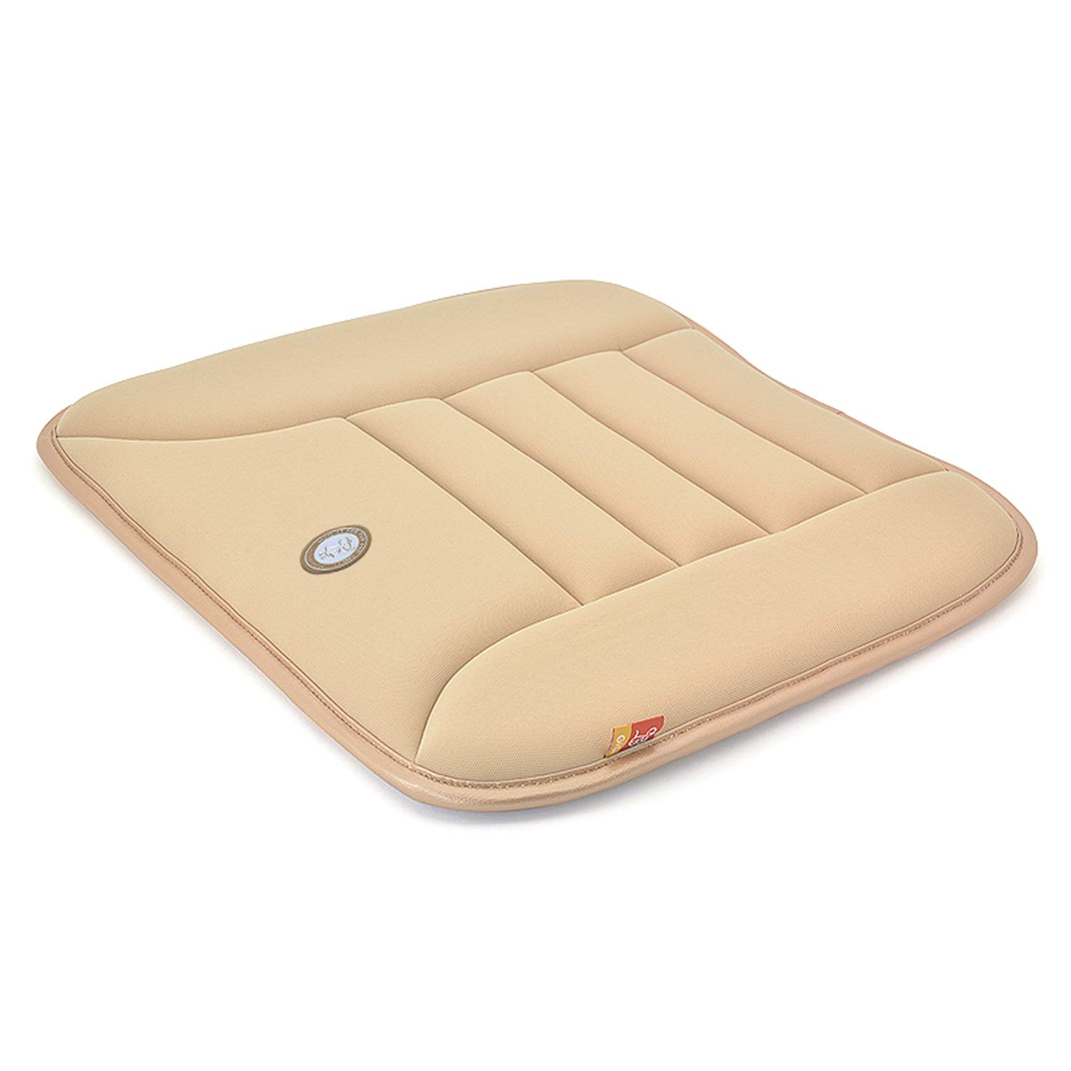 Pure Memory Foam Seat Cushion – Easy to Install Portable Pad, Health Care Portable Hip Support for Home Office Chair Car Driving Cover - Beige