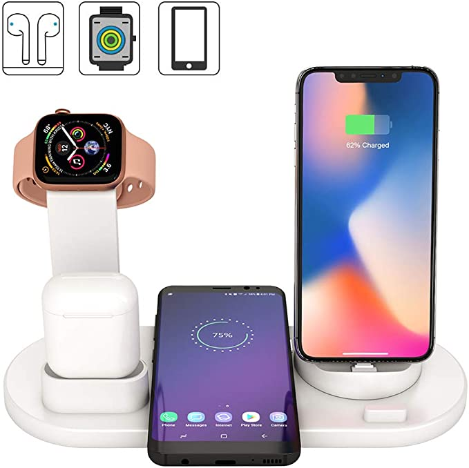 7 opinioni per Stazione di Ricarica Wireless 4 in 1 Qi Compatibile con Samsung iPhone X XS XR