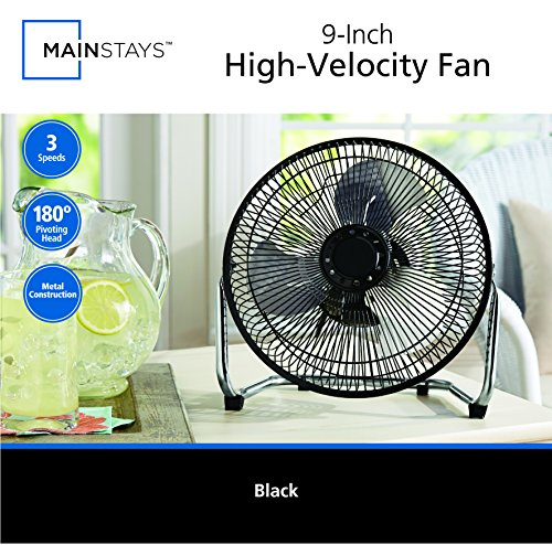 MAINSTAYS 9 inch High Velocity Fan by MAINSTAYS (Image #1)'