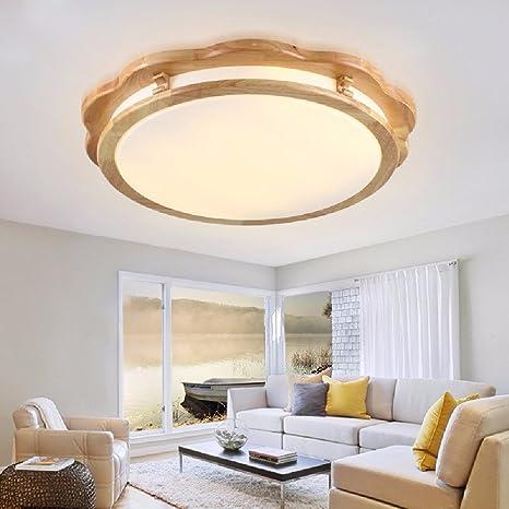 KHSKX Chinese lamparas de techo, antiguos de madera maciza ...