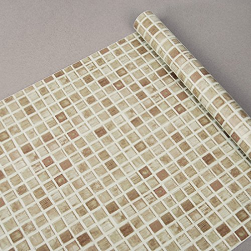 HBOS Paintable Beadboard Peel and Stick Texture Wallpaper,17.7-Inch by 401-Inch, Mosaic Vinyl Self-Adhesive Wallpaper Wall Decor (Roll)