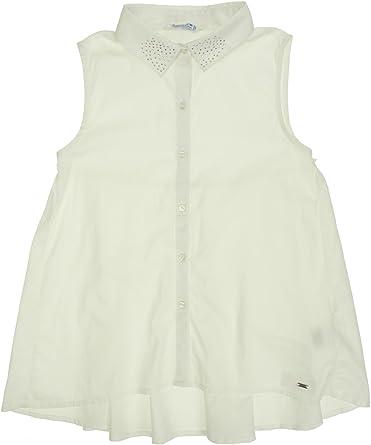 Mayoral 28-06106-060 - Blusa Para Niña 12 Años Blanco: Amazon.es: Ropa y accesorios