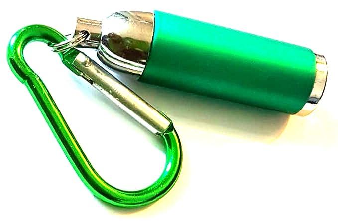 Dojore - Linterna LED de bolsillo mini verde, 1 unidad ...