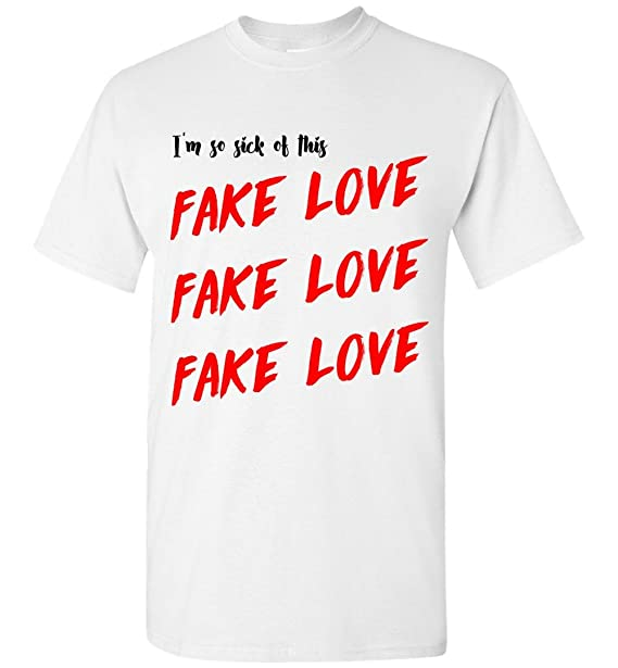 Amazon com: Fake Love Lyric Love Yourself Tear Album T-Shirt