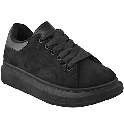 Heelberry® Damenschuhe schwarz Alex OverGrößed ... Chunky Sneakers Rubber Sole ... OverGrößed 08ae37
