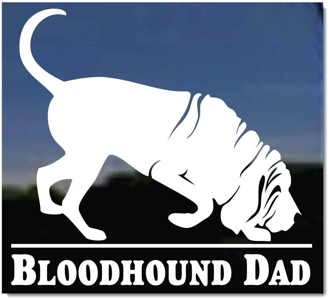 Bloodhound Sticker Die Cut Decal dog canine pet