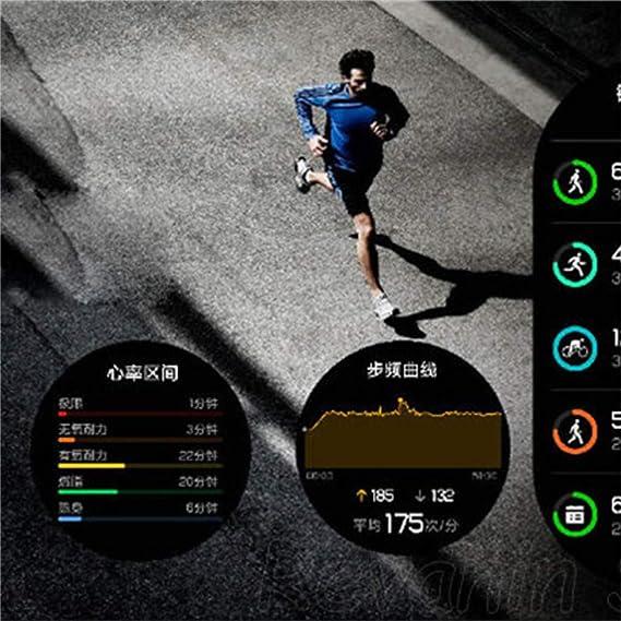 Reloj inteligente Huawei, Dkings Fantasy series health & fitness SmartWatch con frecuencia cardíaca, GPS, running, natación, 7 días batería y resistencia al ...