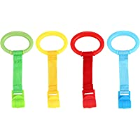 TOYANDONA 4pcs Baby Play Gym Toddler Walking Assistant Baby Gym Pull Ring Rattle Pendant Toy Baby Stand Up Rings…