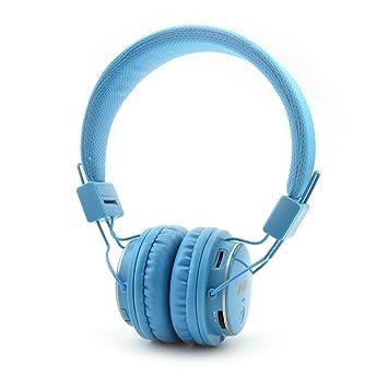 GranVela Q8 Auriculares Bluetooth De Diadema Plegables con Entrada Micro SD para Reproducir Música, Radio FM [11 Cielo Azul
