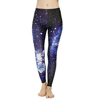 b96e374d24d7a3 Sexyinlife Women's Fashion Digital Print Cosmic Galaxy Stretch High Waist Leggings  Tights Fabric Upgrade Size 6
