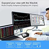 WAVLINK USB 3.0 Universal Laptop Docking Station Dual Video Monitor Display HDMI, DVI & VGA, Audio, Gigabit Ethernet, 4 USB Ports, 2 USB Charging Port for Ultrabook, Tablets and Notebooks-Black