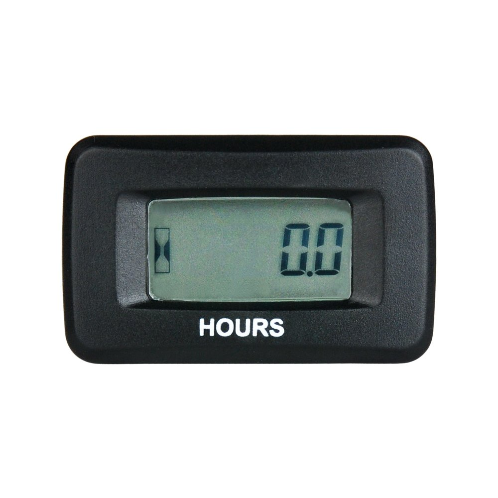 RunLeader RL-HM055 AC/DC 5-277V Digital LCD Gasoline Hour Meter for Paramotors, Microlights, Marine Engines - Inboards and Outboard Pumps, Generators, Mowesr, Model Boats, Motor Cycles, Scooters Ningbo Jiangbei Run Leader Electronics Co. Ltd