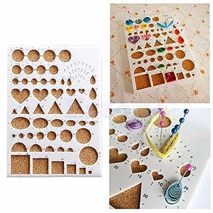 Amazon Com Paper Quilling Template Board Diy Scrapbooks Papercraft