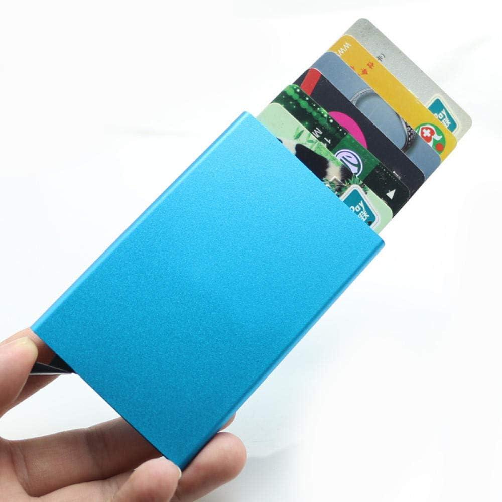 Tarjetero Portatarjetas De Visita Caja De Tarjeta De Aluminio De Acero Inoxidable Caja De Metal Portatarjetas De Crédito Cartera para Hombres: Amazon.es: Deportes y aire libre