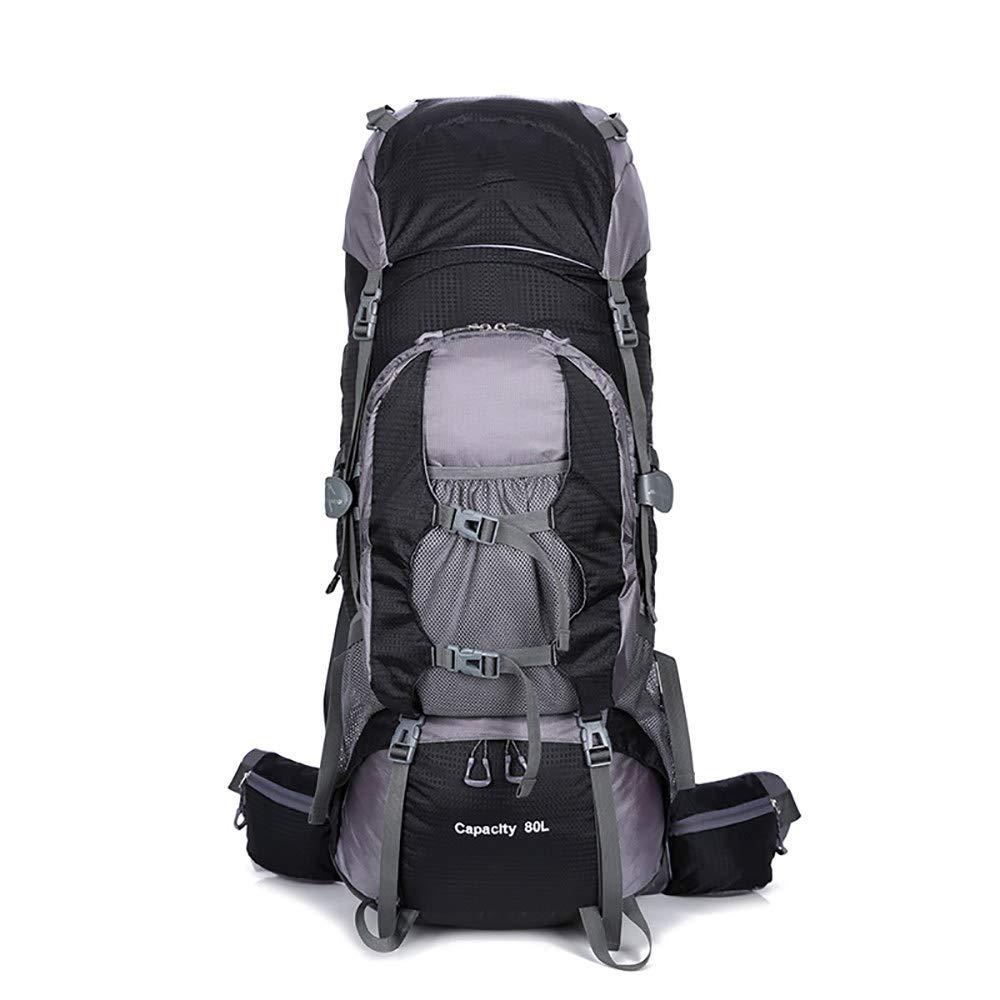 Black Trekking Backpack Outdoor Mountaineering Bag Large Capacity Camping Outdoor Bag Bracket Backpack Men and Women Casual Backpack
