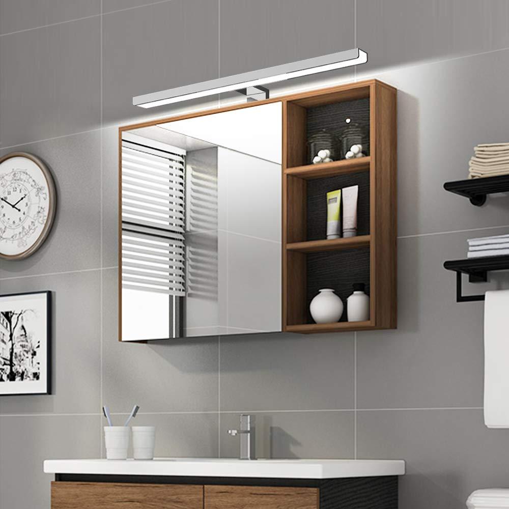 Lampe pour Miroir LED Salle de Bains IP44 7.5W 750lm Lampe Armoire Miroir Applique Murale Int/érieure Luminaire Salle de Bain 4000K Blanc Neutre 50cm